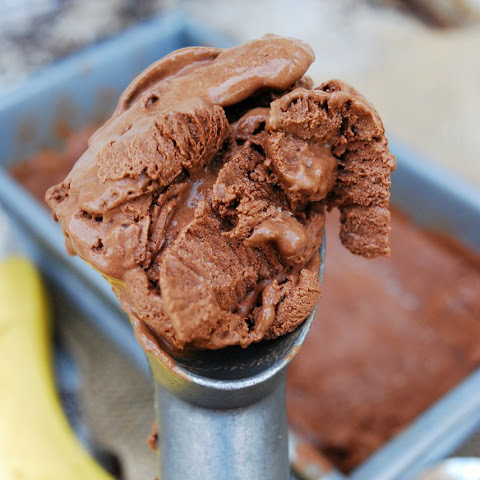 No Churn Vegan Chocolate-Banana Ice Cream (GF, DF, Egg, Soy, Peanut, Tree nut Free, Top 8 Free)