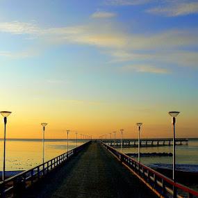 bridge by Vygintas Domanskis - Buildings & Architecture Bridges & Suspended Structures ( palanga, bridge, lithuania, seaside, evening,  )