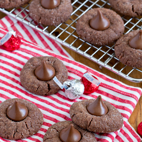 Chocolate Sugar Cookie Blossoms