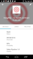 Screenshot of Insightly CRM