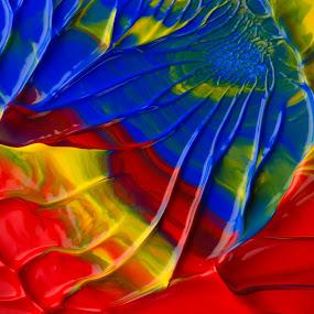 crème de couleur by Olivier Tabary - Backgrounds Abstract ( rouge, peinture, couleur, gouache, bleu, arc en ciel, jaune, arbres )