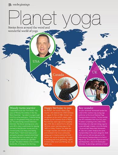 OM Yoga & Lifestyle Magazine - screenshot