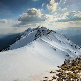 Valhalla by Lucian Satmarean - Landscapes Mountains & Hills ( mountains, sky, snow, kingstone, carpathians )