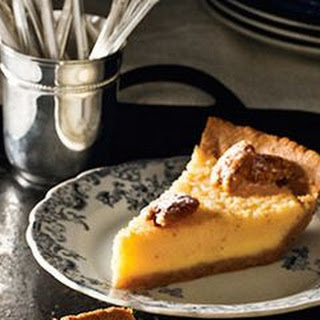 Buttermilk Pie with Pecan Crust