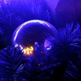 Crystal Ornament  by Tony Huffaker - Artistic Objects Other Objects ( blue, ornament, christmas, crystal, light )