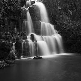 Waterfall by Artur Carvalho - Landscapes Waterscapes ( black and white, waterfall, fine art, long exposure, landscapes )