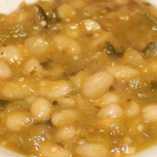 Roasted Tomatillo and White Bean Chili