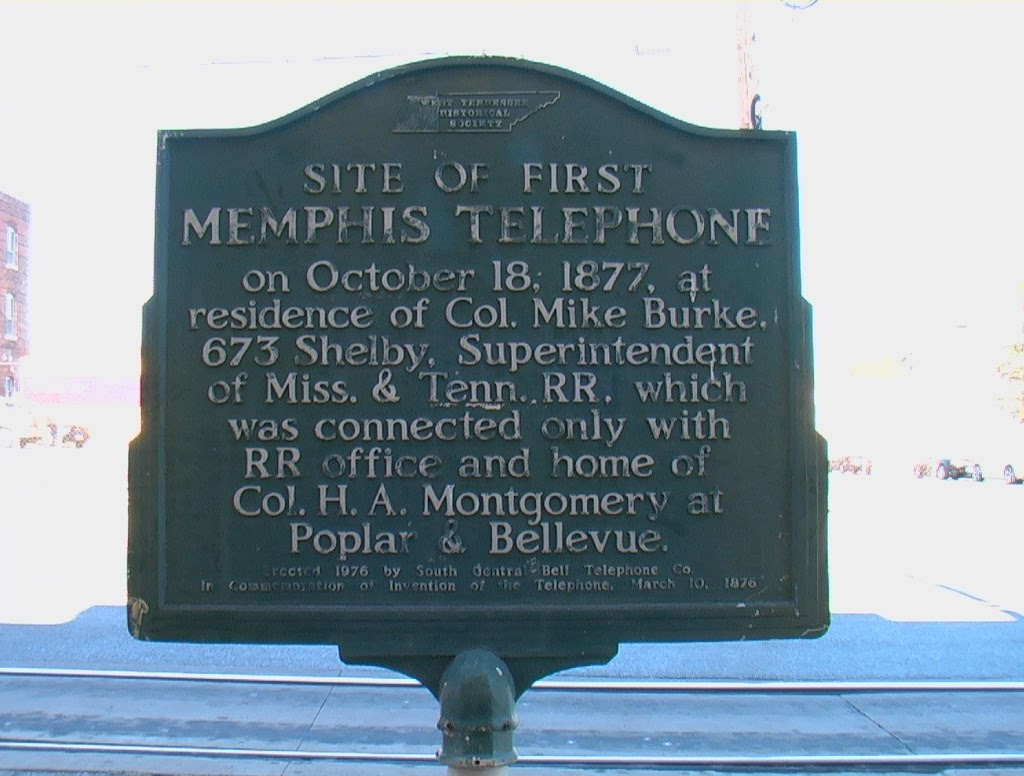 On October 18, 1877, at residence of Col. Mike Burke, 673 Shelby, Superintendent of Miss. & Tenn. RR, which was connected only with RR office and home of Col. H.A. Montgomery at Poplar & Bellevue. ...