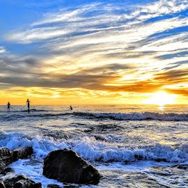 Sunset Delight along the Western gulf  by Jeffrey Lee - Landscapes Sunsets & Sunrises ( sunset delight along the western gulf )