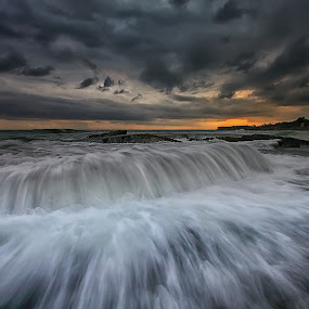 Darkness by Agoes Antara - Landscapes Weather ( nature, waterscape, wave, weather, cloud, pwcstorm, landscape )