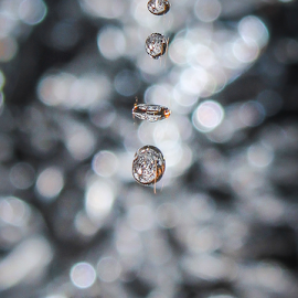 by Divya Ram - Abstract Water Drops & Splashes