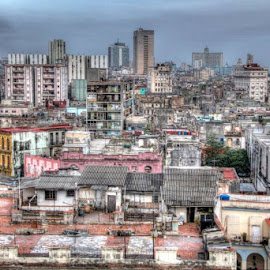 Havanna from above by Kimberly Hunker - City,  Street & Park  Neighborhoods ( roof top, havanna, view, cuba, city )