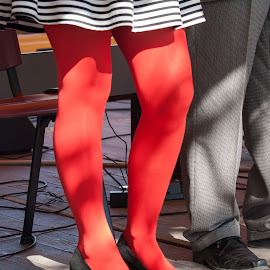Valentines legs by Klaus Müller - Public Holidays Valentines Day ( red, reddish, legs )