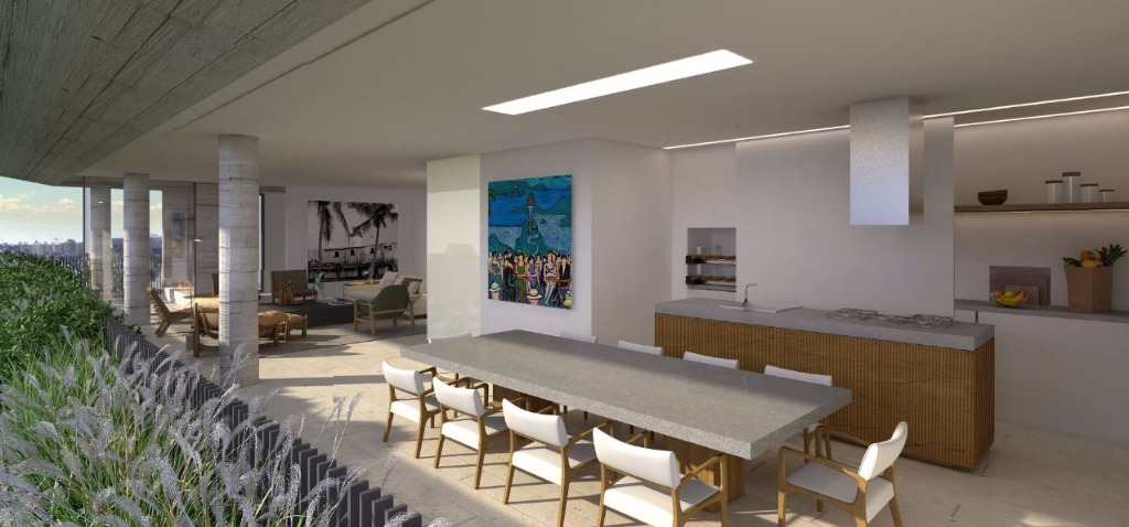 Perspectiva do Terraço Jantar  - 459 m²