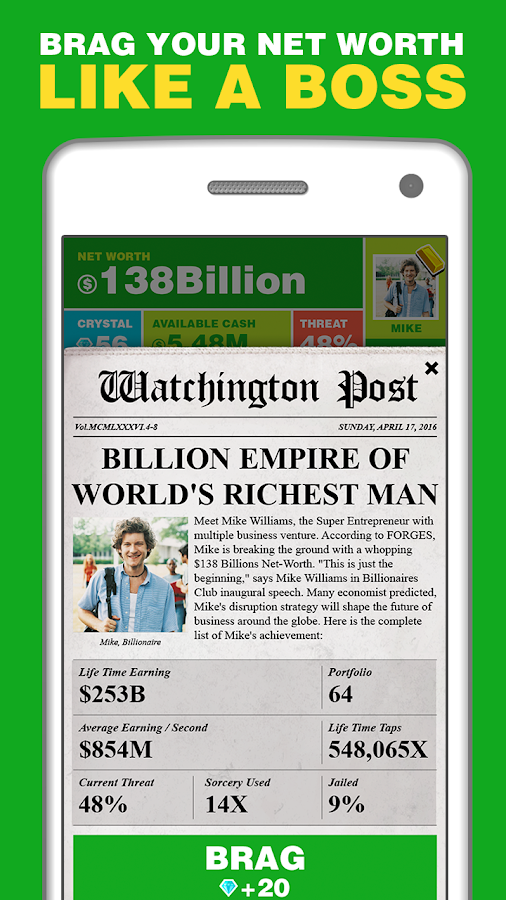 Billionaire. Screenshot 3