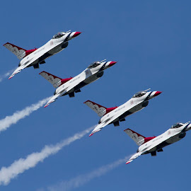 United States Air Force Thunderbirds by Mark Synowiec - Transportation Airplanes ( f-16, plane, air force, fighter jet, usaf, air show, thunderbirds )