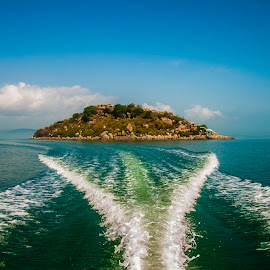 Leaving behind by Balu Sadhu - Landscapes Travel ( lagoon, waterscape, travel, landscape, island,  )