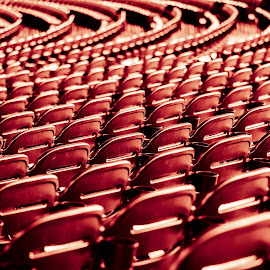 { At the Theatre } by Chris Partheniou - Abstract Patterns ( iah, herman park, chairs, texas, houston, empty seats, seats, show, theater, bokeh )