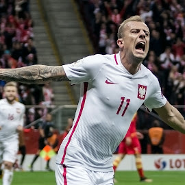 Kamil Grosicki by Paweł Mielko - Sports & Fitness Soccer/Association football ( turbogrosik, kamil grosicki, polska, gol, national, footballer, sports, sport, team, sport photography, polish, poland, footbal, grosicki )