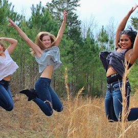 Jumping for joy... by Bob Wikert - People Portraits of Women