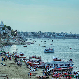 **Sham-e-Banaras** by Shishir Kumar - Landscapes Travel ( canon, ganga, ghat, colorful, boats, traveler, tourism, varanasi, travel, photography, iloveindia, tourist, 700d, sunset, peace, lifestyle, banaras, india, place, evening, culture, religious, river )