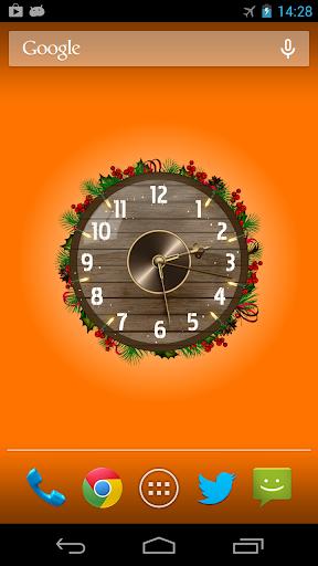 Analog Clock Wallpaper/Widget screenshot 1