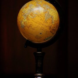 Globe that was! by Anoop Namboothiri - Artistic Objects Antiques ( low key, anoop namboothiri, artistic object, antique, globe )