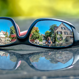 Die Brille! by Jesus Giraldo - Artistic Objects Glass ( hauses, urban, concept, reflection, great, colors, street, composition, beauty, sunglasses, city,  )