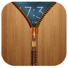 Wood Zipper Lock Screen