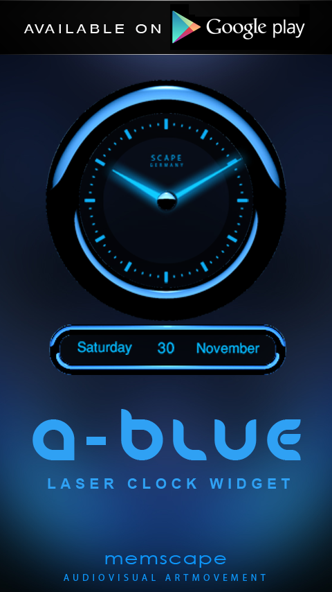 A-BLUE Next Launcher 3D Theme Screenshot 4