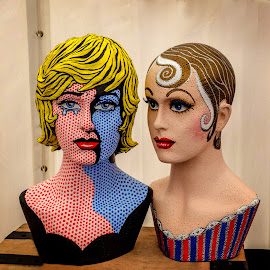 Artistic Heads by Heather Ryder - Artistic Objects Still Life ( pop art, ladies, painted, heads, artistic )