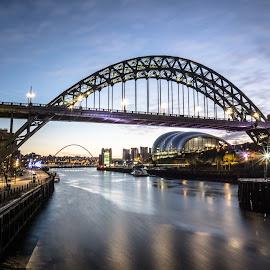 The River Tyne by Adam Lang - City,  Street & Park  Vistas ( sage, millennium bridge, gateshead, tyne bridge, newcastle, the river tyne )