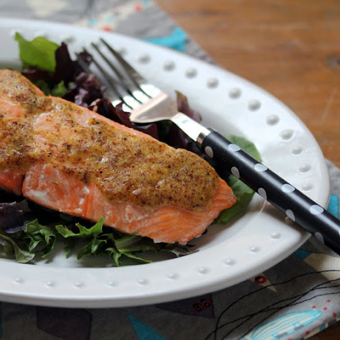 Salmon With Lemon Maple Mustard Sauce