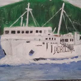 Ship Lastovo by Vanja Škrobica - Painting All Painting