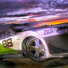 Sports car sunset by Mohamad Sa'at Haji Mokim - Digital Art Things