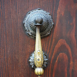 Knocker by Sámuel Zalányi - Artistic Objects Other Objects ( ravenna, antique, knocker, brass, italy,  )