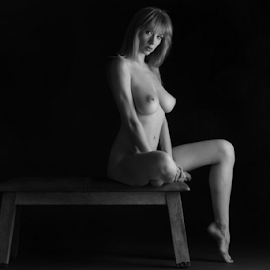waiting by Reto Heiz - Nudes & Boudoir Artistic Nude ( sexy, nude, black and white, nudeart, female nude, sensual )