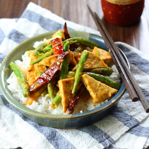 Spicy Mango Tofu Stir Fry