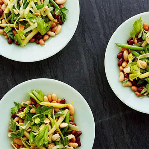 Five Bean Salad With Smoked Paprika Vinaigrette