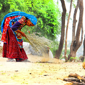 Old lady  by Fawad Hashmi - People Portraits of Women