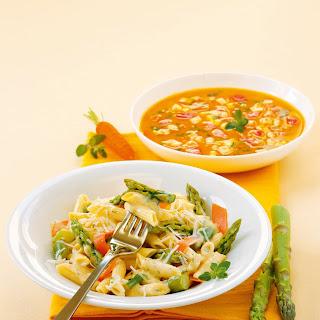 Pasta Asparagus Carrots Recipes