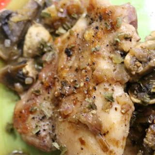 Crusty Chicken Thighs with Mushroom Sauce - Jacques Pepin