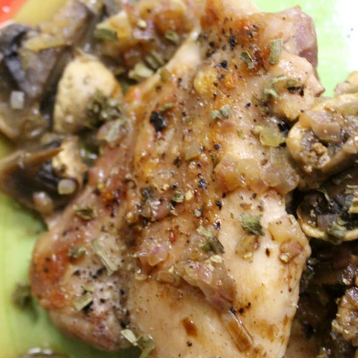 Crusty Chicken Thighs with Mushroom Sauce - Jacques Pepin Recipe ...
