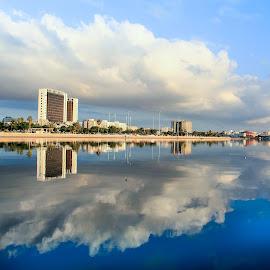 Benghazi City  by Musab Bokhshim - City,  Street & Park  City Parks ( picture, canon, clouds, water, photographer, landscape, photo, photography, city, photoshop )