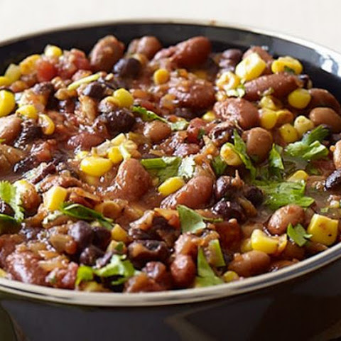 Super-Easy Slow Cooker Three-Bean Chili