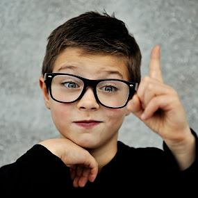 David by Ivana Miletic - Babies & Children Child Portraits ( nerd, brainiac, glasses, blue-eyed, ivana miletic, boy )
