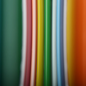 Prismacolor Through Glass by Jean Photo-Vigneault - Abstract Macro