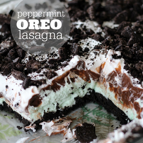 Chocolate and Peppermint Oreo Lasagna
