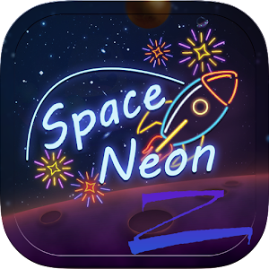 Space Neon Theme-ZERO Launcher App icon