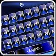 Blue Metal Style Keyboard Theme